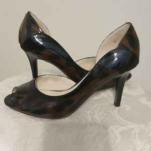 Unisa Cheetah Print Peep Toe Shoes